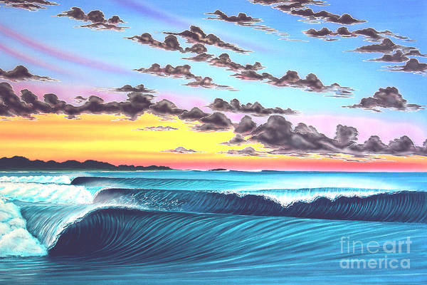 Surf Art Print featuring the painting Morning Macaronis - Indonesia by Marty Calabrese