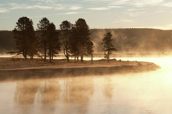 Horizontal Print featuring the photograph Morning Mists by Corinna Stoeffl, Stoeffl Photography