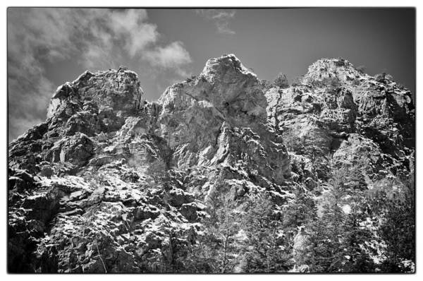 Mountain Print featuring the photograph Mountain Peaks by Lisa Spencer