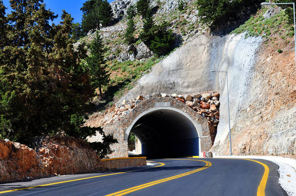 Mountain Art Print featuring the photograph Mountain Tunnel. by Fernando Barozza