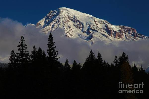 Mt Rainier Clouds Art Print featuring the photograph Mt. Rainier by Adam Jewell