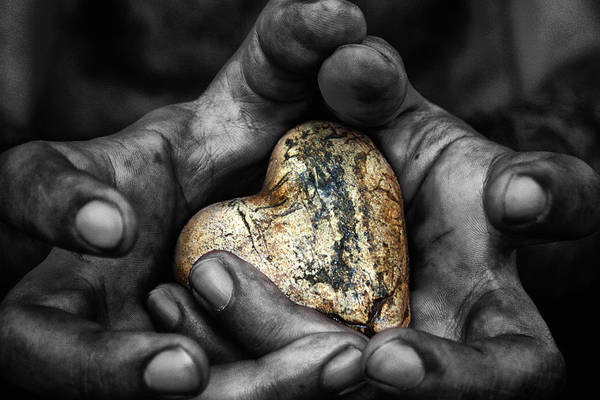 Age Art Print featuring the photograph My Hands Your Hard by Stelios Kleanthous