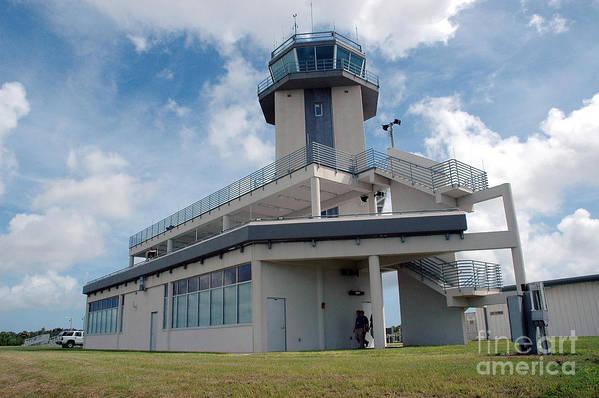 Air Traffic Control Tower Art Print featuring the photograph Nasa Air Traffic Control Tower by Nasa