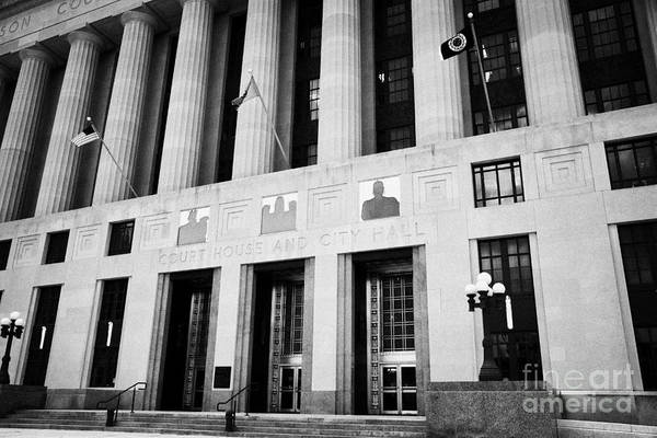 Nashville Print featuring the photograph Nashville City Hall Davidson County Public Building And Court House Tennessee Usa by Joe Fox