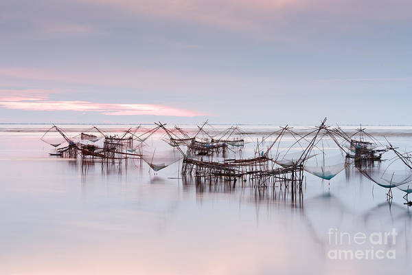 Agriculture Art Print featuring the photograph Native Asian Fishery by Buchachon Petthanya