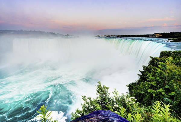 Horizontal Art Print featuring the photograph Niagara Falls by Tony Shi Photography