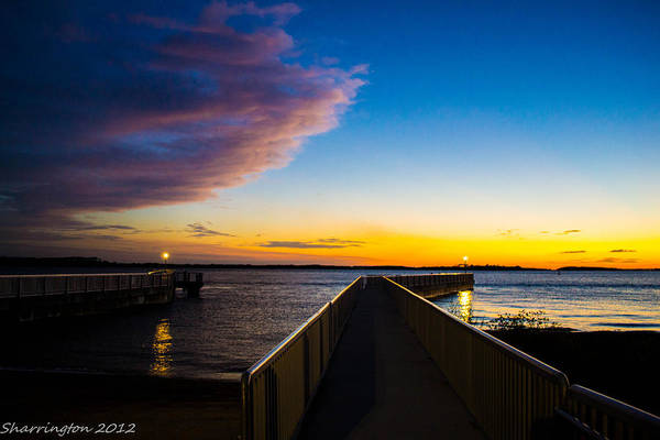 Pier Art Print featuring the photograph Night Approaches by Shannon Harrington