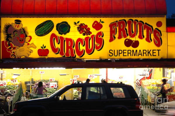 Bklyn Art Print featuring the photograph Night At The Supermarket by Mark Gilman