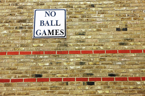 Horizontal Art Print featuring the photograph No Ball Games by Richard Newstead