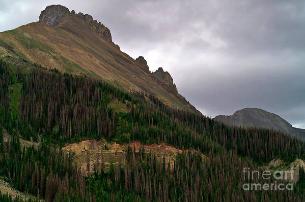 Nokhu Crags Art Print featuring the photograph Nokhu Crags Colorado by Michael Kirsh