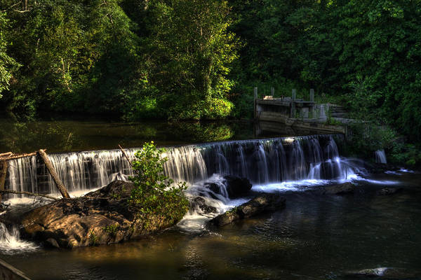 Helen Georgia Art Print featuring the photograph Nora Mill Falls by Greg and Chrystal Mimbs