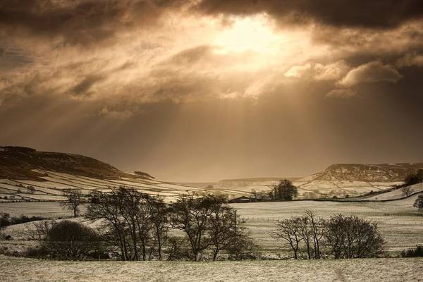 Day Art Print featuring the photograph North Yorkshire, England Sun Shining by John Short