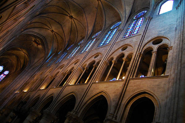 Church Art Print featuring the photograph Notre Dame Interior by Ama Arnesen