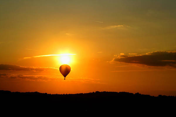 Landscape Art Print featuring the photograph Off Into The Sunset by Lone Dakota Photography