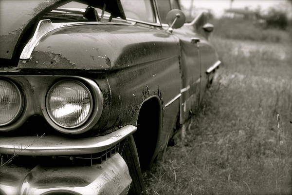 Cadillac Art Print featuring the photograph Old Cadillac by Emilie Sullivan