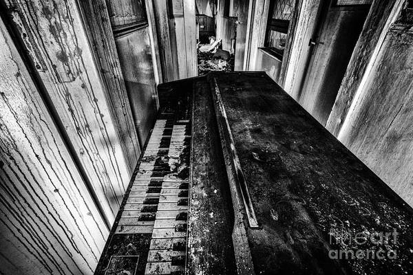 Piano Print featuring the photograph Old Piano Organ by John Farnan