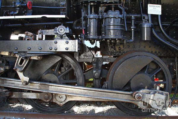 Transportation Art Print featuring the photograph Old Steam Locomotive Engine 1258 . Wheels . 7d13000 by Wingsdomain Art and Photography
