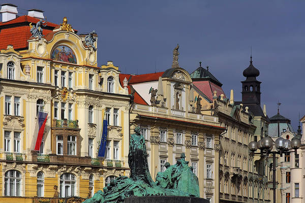 Old Town Square Art Print featuring the photograph Old Town Square In Prague by Christine Till