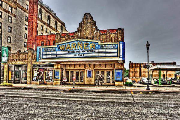 Warner Theater Art Print featuring the photograph Old Warner Theater Morgantown Wv by Dan Friend