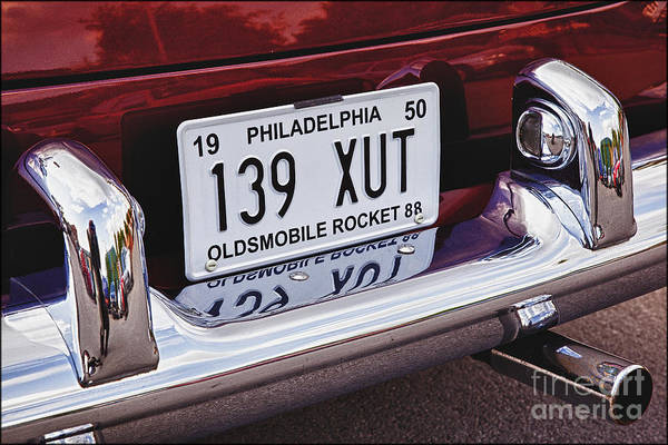 American Cars Art Print featuring the photograph Oldsmobile Rocket 88 by George Hodlin