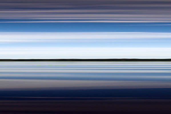 Dreamy Art Print featuring the photograph On The Water Abstract by Gary Eason