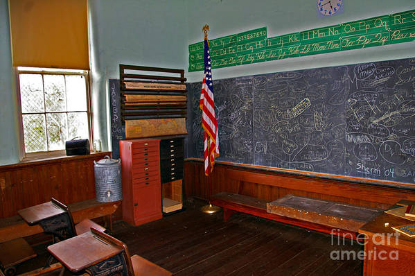 School Art Print featuring the photograph One Room Schoolhouse by Rich Walter