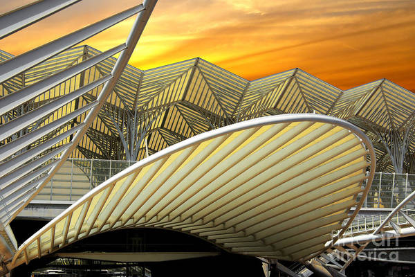 Abstract Art Print featuring the photograph Oriente Station by Carlos Caetano