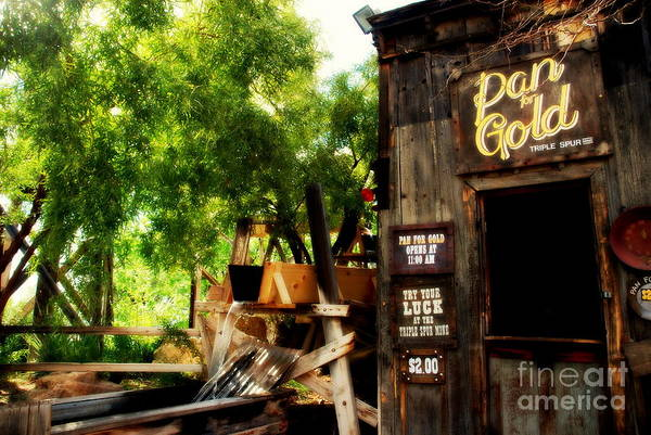 Pan For Gold Art Print featuring the photograph Pan For Gold In Old Tuscon Arizona by Susanne Van Hulst