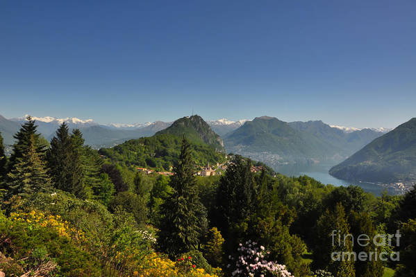 Panorama Art Print featuring the photograph Panorama View Over Mountain by Mats Silvan