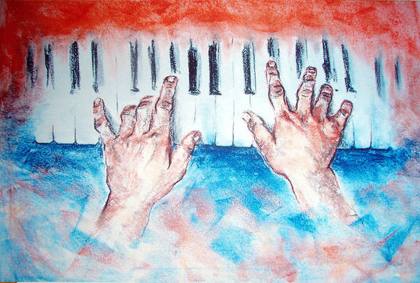 Piano Art Print featuring the painting Passion2 by Vanik Avakian