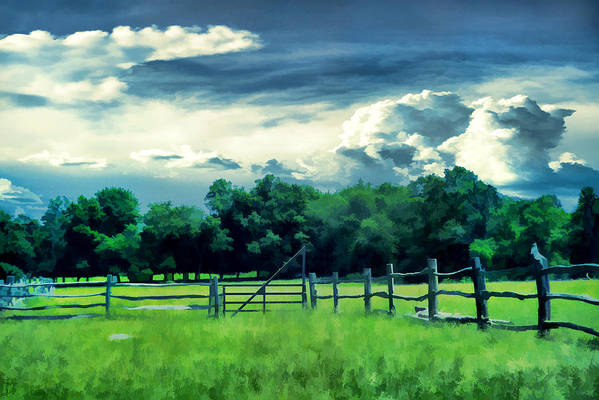 Farm Art Print featuring the photograph Pastoral Greenery by Lourry Legarde