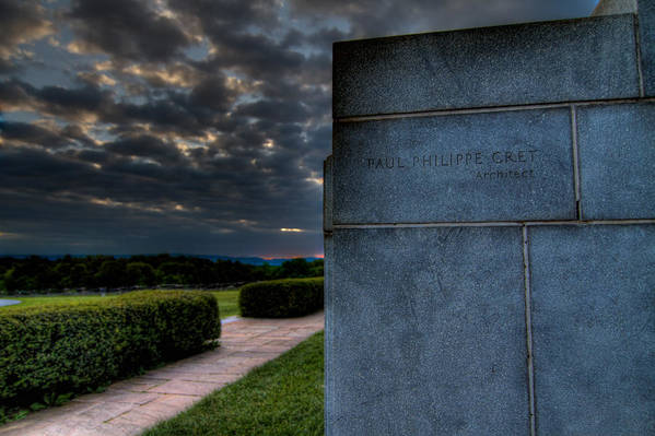 Gettysburg Art Print featuring the photograph Paul Cret Gettysburg Monument by Andres Leon