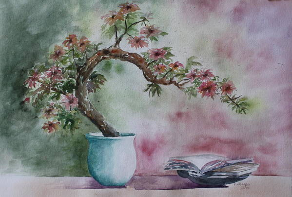 Peaceful Still Life Art Print featuring the painting Peace Of Mind by Patsy Sharpe