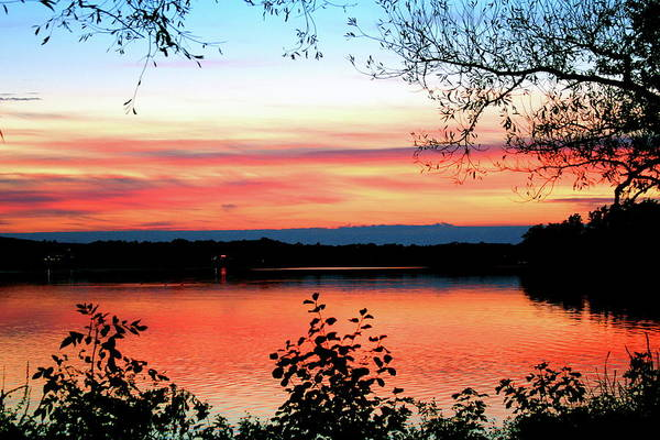 Landscape Art Print featuring the photograph Peaceful Evening by Mike Stouffer