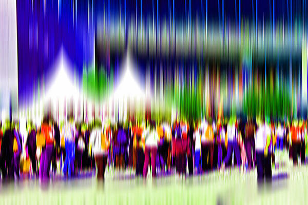 Abstract Art Print featuring the digital art People Walking In The City-2 by Joel Vieira