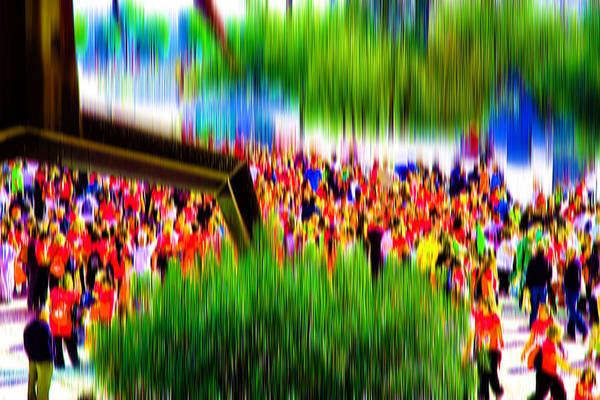 Abstract Art Print featuring the digital art People Walking In The City-8 by Joel Vieira