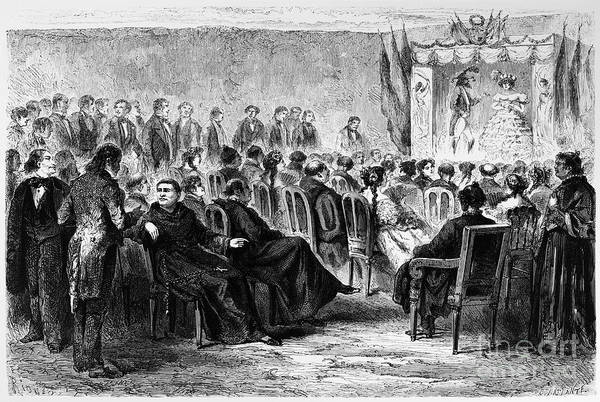 1869 Art Print featuring the photograph Peru: Theater, 1869 by Granger