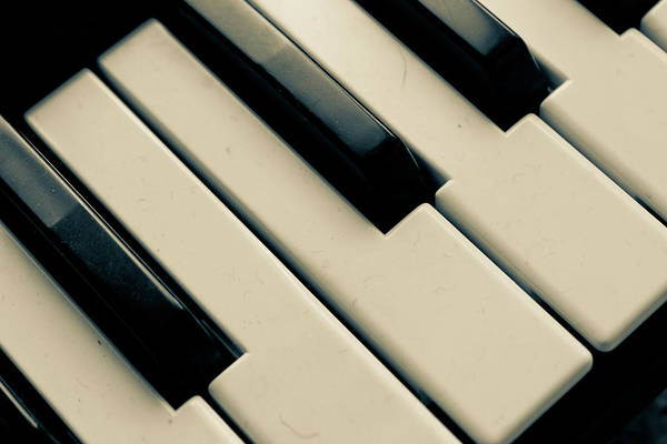 Horizontal Art Print featuring the photograph Piano Keys by Dm909