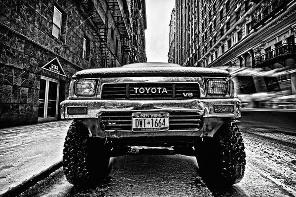 Cold Art Print featuring the photograph Pick Up Truck On A New York Street by John Farnan