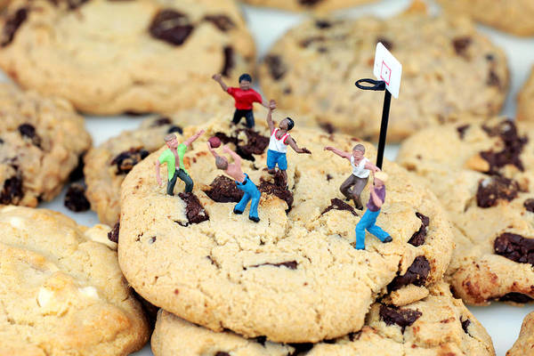 Play Art Print featuring the photograph Playing Basketball On Cookies II by Paul Ge