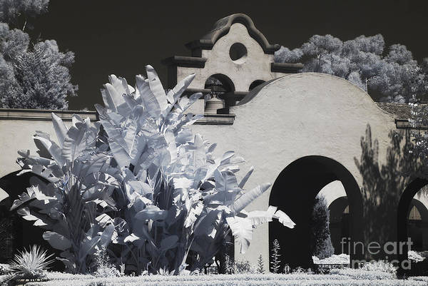 Infrared Art Print featuring the photograph Prado- Balboa Park by Eileen Mandell
