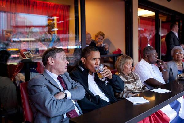 History Art Print featuring the photograph President Barack Obama Watches The 2009 by Everett