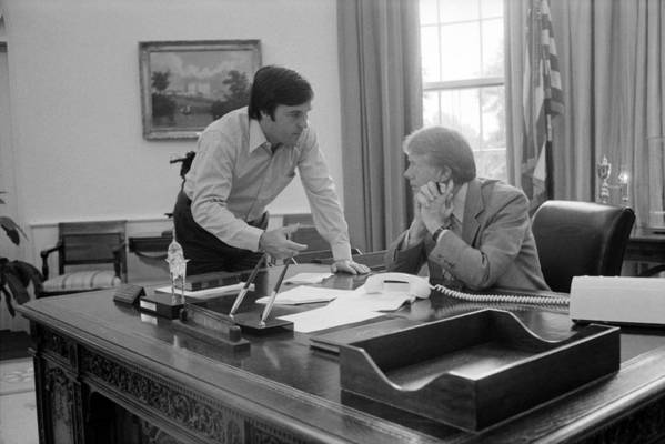 History Print featuring the photograph President Carter And His Chief Of Staff by Everett
