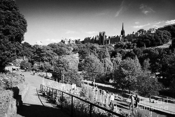 Princes Art Print featuring the photograph Princes Street Gardens Edinburgh Scotland Uk United Kingdom by Joe Fox