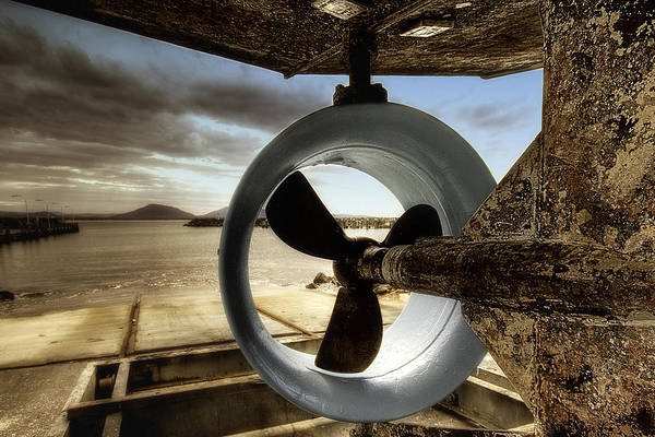 Boat Prop Art Print featuring the photograph Prop 01 by Kevin Chippindall
