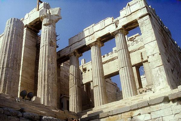 Acropolis Art Print featuring the photograph Propylaia Acropolis by Andonis Katanos