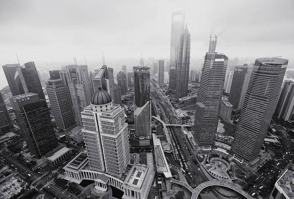 Horizontal Art Print featuring the photograph Pudong by Wecand