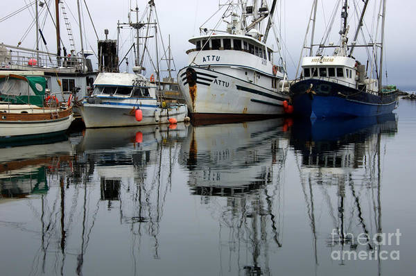 Fishing Boats Art Print featuring the photograph Quiet Time by Bob Christopher