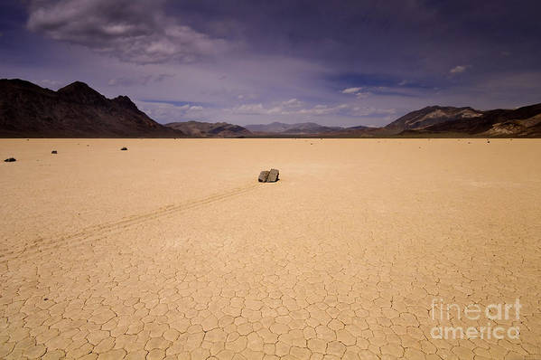 Death Valley Art Print featuring the photograph Racetrack Playa by Katja Zuske