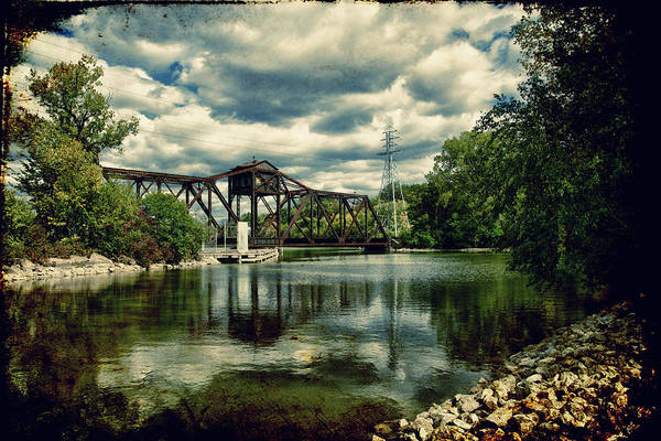 Bridge Art Print featuring the photograph Rail Swing Bridge by Joel Witmeyer